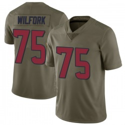 Nike Vince Wilfork Houston Texans Men's Limited Green 2017 Salute to Service Jersey